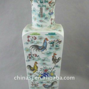 Qing Dynasty Famille rose chicken design Porcelain Vase WRYRF01