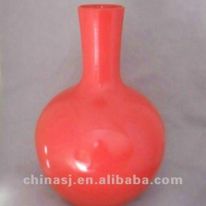 beautiful chinese red porcelain vase WRYKB82