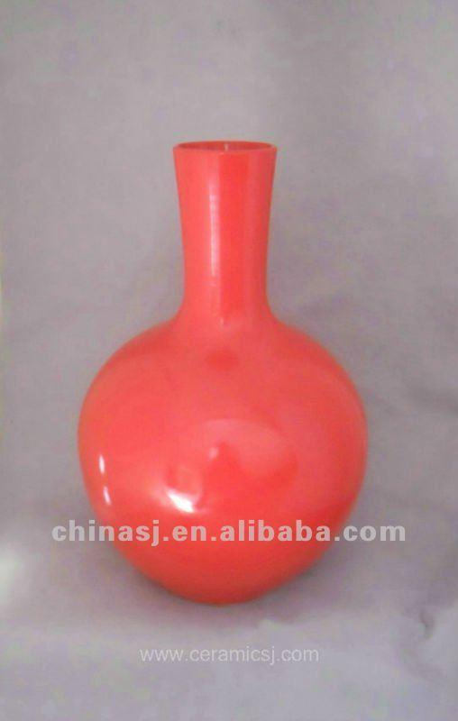 beautiful chinese red porcelain vase WRYKB82