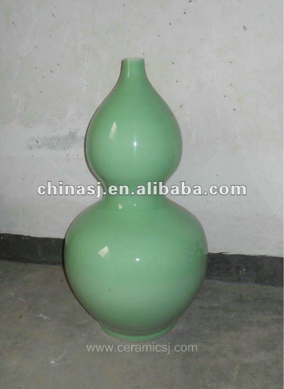 beautiful hand made green ceramic gourd Vase WRYKB97