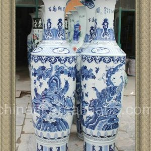 70.5 inch Chinese Blue and white Floor Vases