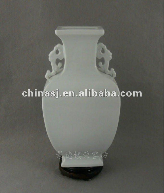 blanc de chine square vase with handles WRYTY03