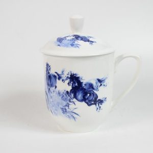 RYDP50 ceramic blue white mug