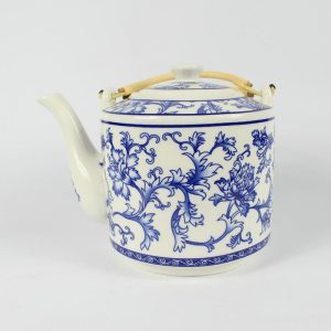 "RYGN19 8.6"" Jingdezhen blue white Ceramic Tea Pot"