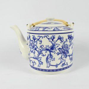 """RYGN19 8.6"""" Jingdezhen blue white Ceramic Tea Pot"""