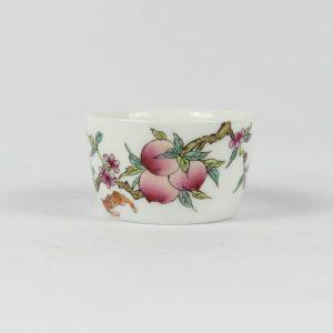 RYIC30 Jingdezhen famille rose HAND painted peach Porcelain Tea cup