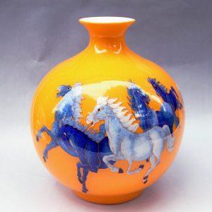 RYXF02 11.8 inch horses design christmas vases