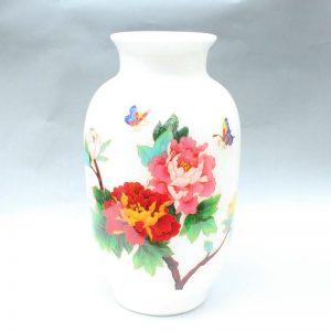 RYXF13 14.5 inch flower white vase