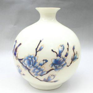 11.8 inch flower white ceramic vase
