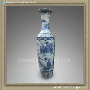 RYXJ04 74.5 inch Blue white big vase