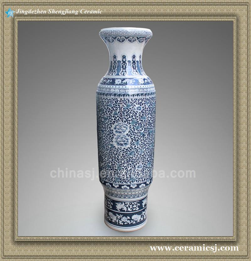 Ryxk03 598 Inch Chinese Blue White Floral Jingdezhen Tall Floor