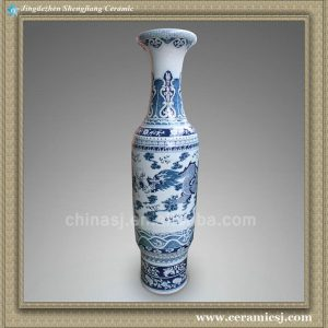 RYXK04 71 inch Chinese dragon blue white Jingdezhen tall vase