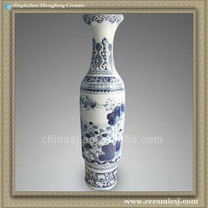 "RYXK05 71"" Big Jingdezhen blue vases"