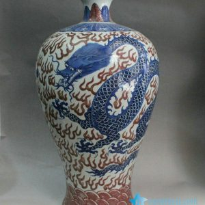 RYXN06 24.4 inch hand painted dragon design Jdz wholesale vases