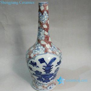RYXN10 10.6 inch Jdz Blue & White Medallion Ceramic Wholesale Wedding Vases