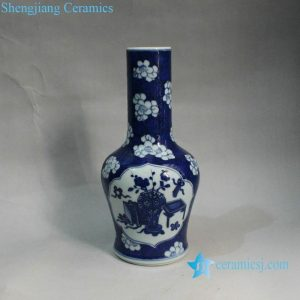 RYXN11 9.6 inch Jdz Blue and White Medallion Wholesale Vases For Wedding
