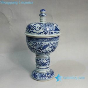 RYXN12 9 inch Jdz Blue White Flower Ceramic Wholesale Vases
