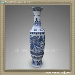 RYXT01 71 inch Jdz blue and white big ceramic tall vase