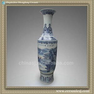 RYXT02 71 inch blue and white landscape big ceramic tall antique vases