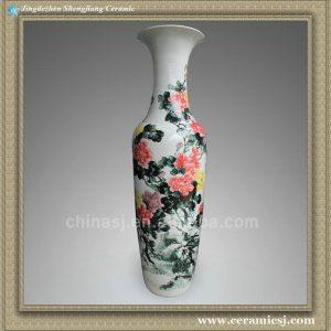 RYXT04 71 inch Floral painted vase ceramic floor vases