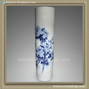 YXT07 71.5 inch Chinese blue white porcelain tall floral vases