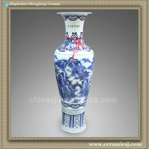 RYXU01 52.5 inch Chinese blue white porcelain floor vase