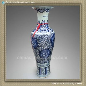 RYXU02 52.5 inch Chinese blue white floral floor ceramics vases