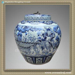 RYXU05 22.5 inch Chinese blue white painted Ceramic Jars