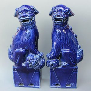 RYXZ01 17.5 inch Pair of Ceramic Foo dog
