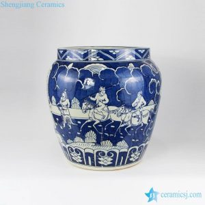 "RYYC06 16.5"" Ming dynasty reproduction blue white ceramic pots"