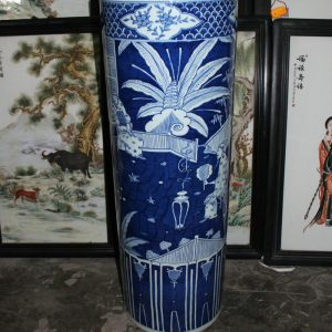 "RYYC07 39"" Ming dynasty reproduction blue white ceramic vases"