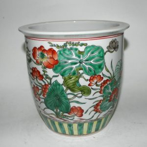 """RYYD01 9"""" Chinese hand painted porcelain flower pot"""