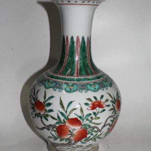 "RYYD04 15"" Chinese porcelain vases peach design"