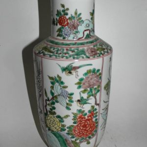 "RYYD06 16.5"" Chinese flower and bird design ceramic vase"