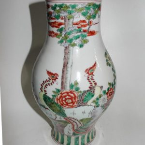"RYYD07 15.3"" Chinese flower and phoenix design ceramic vase"