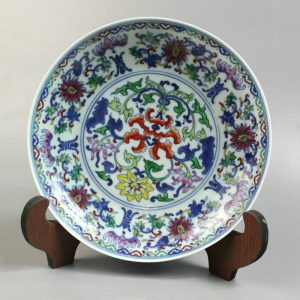 RYYE01 7.8 inch Fine Doucai floral Plate