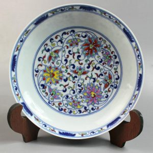 "RYYE02 7.8"" Fine Doucai dishes design of floral"