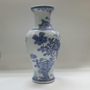 "RYZB01 15.7"" Blue white floral vases on sale"