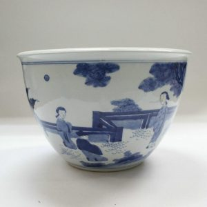 "RYZB03 10"" Blue white ceramic pot"