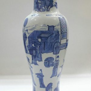 """RYZB06 19.6"""" Blue white ceramic elegant vases"""