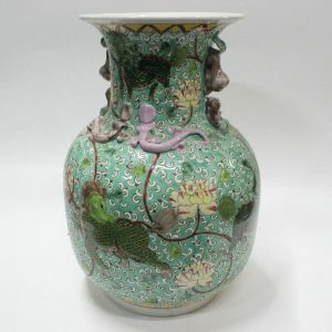 "RYZG02 13"" Ceramic hand painted antique vase"