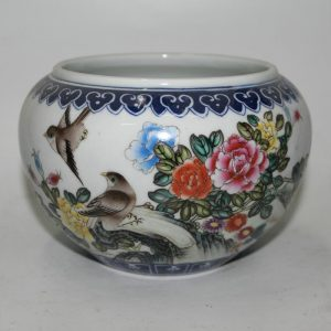 "RYZF01 6"" Chinese famille rose hand painted Porcelain bowl floral bird design"