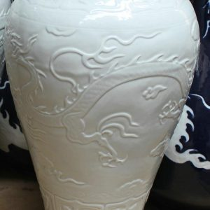 "RYZI05 18.5"" Hand made porcelain dragon vases"
