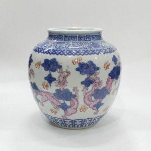 "RYZJ05 9.8"" Painted Chinese blue ceramic pots"