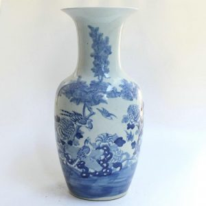 "RYZK08 16"" Chinese Blue white flower vases"