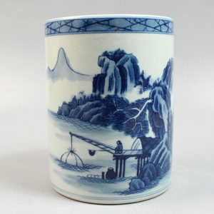 "RYZN01 5.5"" Chinese painted porcelain vases pen holder"