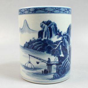 """RYZN01 5.5"""" Chinese painted porcelain vases pen holder"""