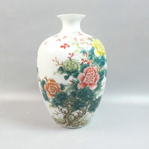 "RYZP01 13.7"" Chinese painted ceramic decorative vases"