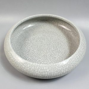 """RYZR01 31.8"""" Chinese ceramic crackle glazed fishbowl"""