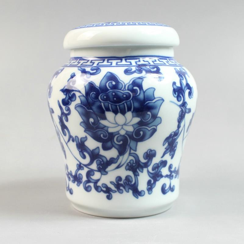 Jingdezhen Blue And White Ceramic Tea Jars Jingdezhen